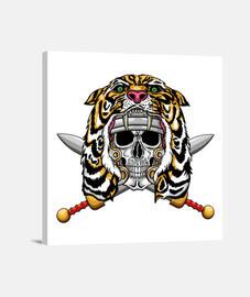 Soldado romano con capucha de tigre
