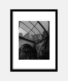 Sombras - Cuadro con marco negro vertical 3:4 (15 x 20 cm)