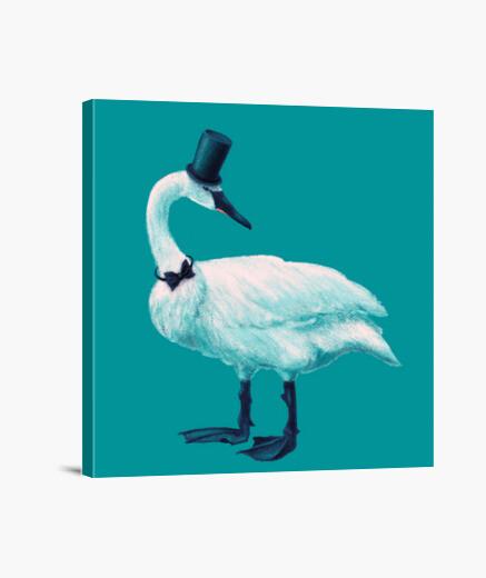 Lienzo sombrero de copa de cisne elegante grac