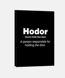 sostén la puerta