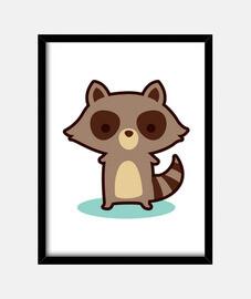 souris laveur brun