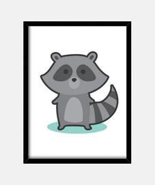 souris laveur gris
