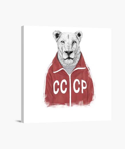 Lienzo Soviet lion