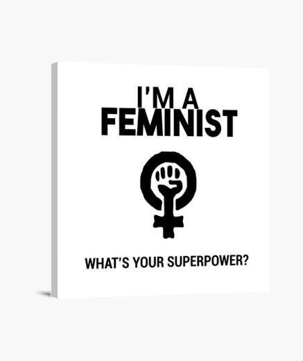 Lienzo Soy Feminista