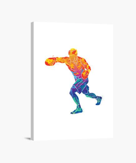 Stampa su tela sport boxer acquerello