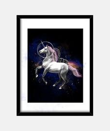 stampa di unicorno spaziale