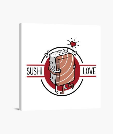 Stampa su tela sushi amore