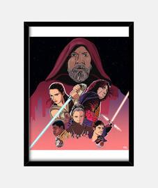 Star Wars - Cuadro con marco vertical 3:4 (30 x 40 cm)