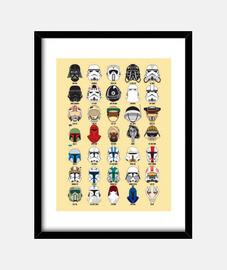 Star Wars Helmets poster