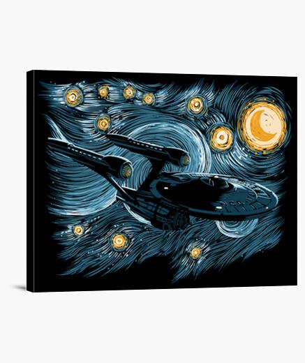 Starry trek canvas