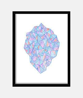 stein von gemischtem triangles