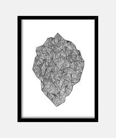 stone de triangles mixtes - noir