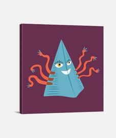 strana piramide blu con tentacoli