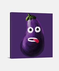 stressé aubergine drôle de bande dessinée