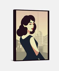style artistique de women toile rétro filles art vintage women