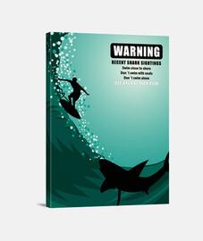 surfer avec les requins