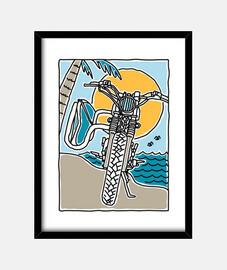 surfeur de motards