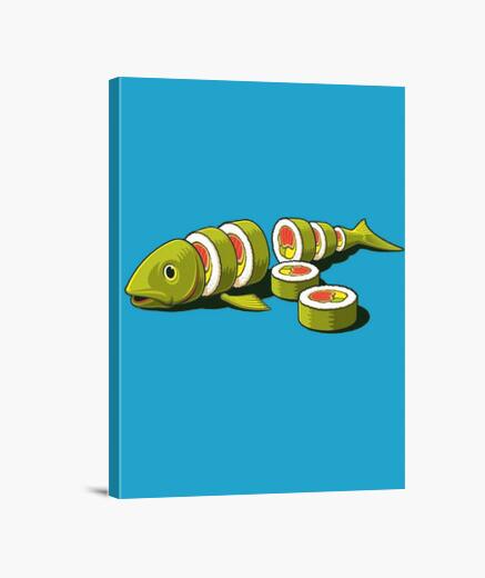 Lienzo Sushi fish