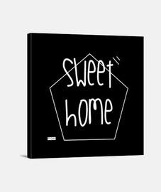Sweet home. Lienzo Cuadrado 1:1 - (40 x 40 cm)