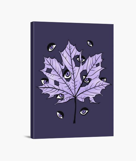 Tableau feuille violette aux yeux...