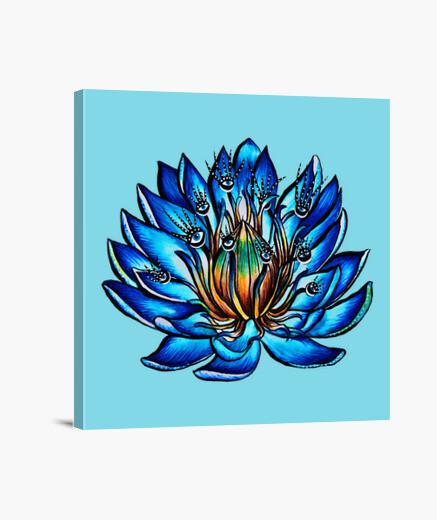 Tableau fleur de nénuphar bleu...