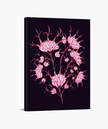 Tableau fleurs roses décoratif floral