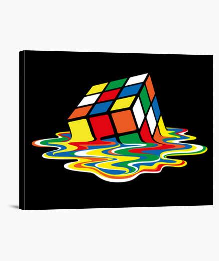 Tableau sheldon cooper - rubik cube fondu