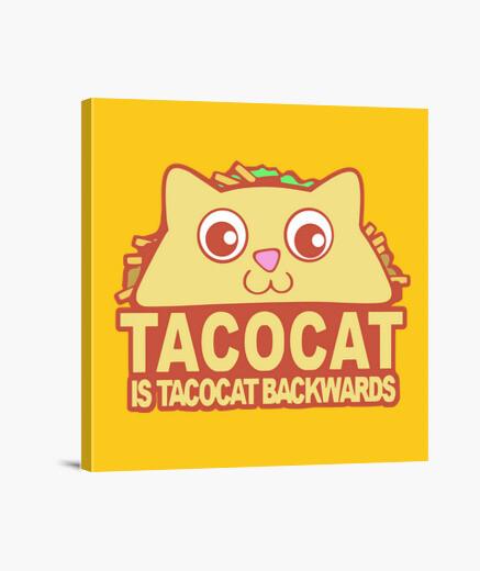 Lienzo Tacocat Backwards