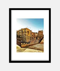 Tarragona - Cuadro con marco negro vertical 3:4 (15 x 20 cm)