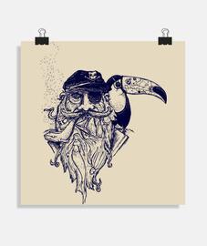 tatoo di toucan pirata