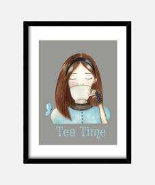 Tea Time Famed Print