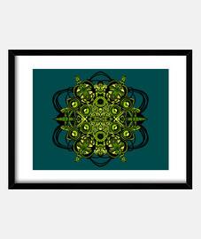 techno alien spiral (40 x 30 cm)