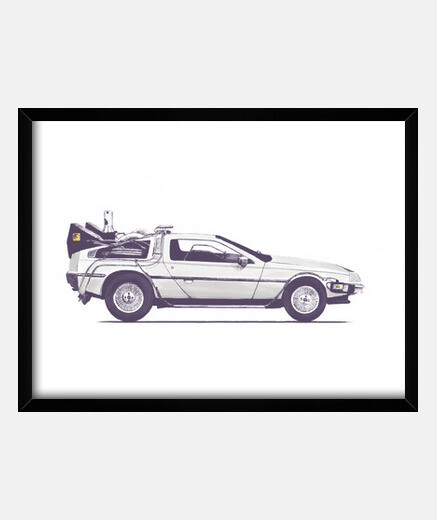 tee delorean