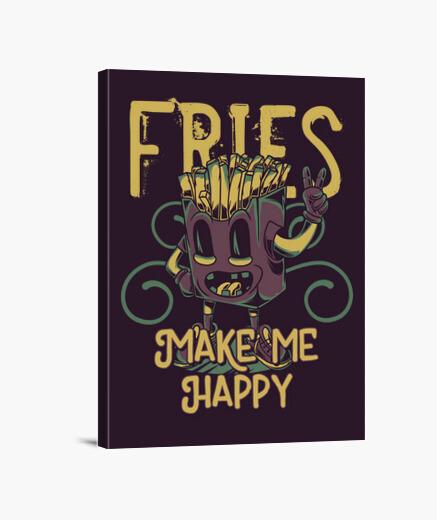 Tela vintage patatine fritte vintage fast food umorismo divertente