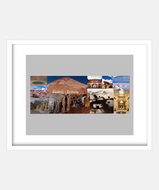 telaio con cornice bianca orizzontale 4: 3 (20 x 15 cm) turismo potosi