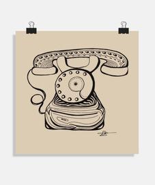 teléfono de la vieja escuela - cartel