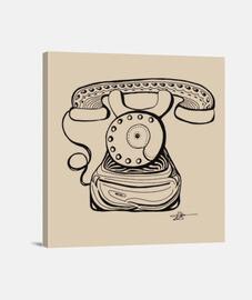 teléfono de la vieja escuela - lienzo