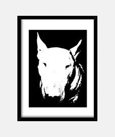 tête bull terrier