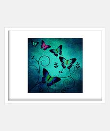 Textura de mariposas