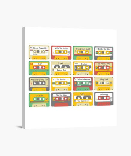 Lienzo The Beatles cassettes.