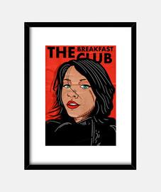 The Breakfast Club - Cuadro con marco negro vertical 3:4 (15 x 20 cm)