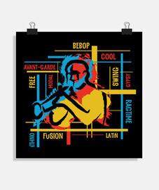 thème jazz multicolore