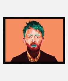 Thom Yorke cuadro horizontal