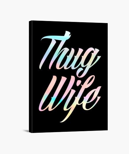 Lienzo Thug Wife