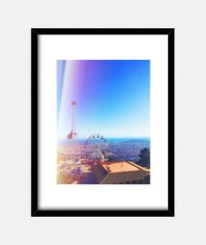 tibidabo - cadre avec cadre noir vertical 3: 4 (15 x 20 cm)