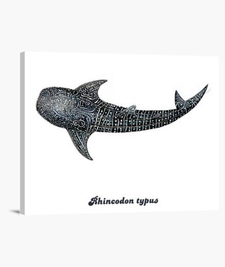 Tiburón ballena para buceadores lienzo