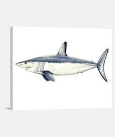 Tiburón Mako - Lienzo Horizontal 4:3 - (40 x 30 cm)