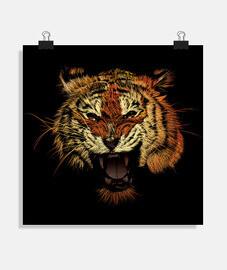 Tiger brüllen Farbe