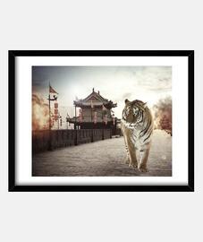 tiger mattepainting