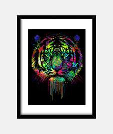 tigre dégoulinant coloré